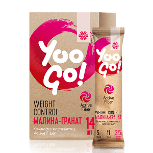 Yoo Go - Напитка за регулиране на телесното тегло (малина-нар)