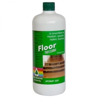 Floor  – препарат за почистване и дезинфекция на всички видове подови настилки 1 Литър