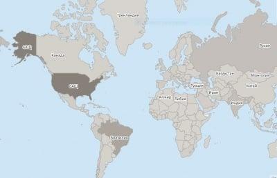 Час по час - карта на разпространението на COVID-19
