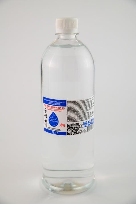 Кислородна вода 3% - 1L