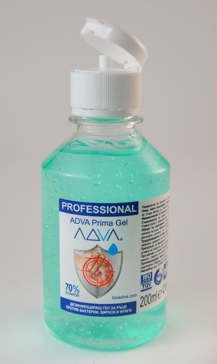 Дезинфекциращ гел за ръце ADVA Prima Gel - 200ml