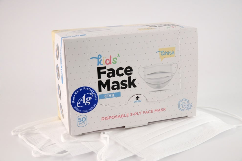 50 ANTIBACTERIAL MASKS WITH NANO-SILVER - for children