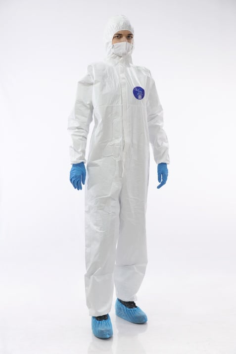 Certified Protective clothing against infection with COVID-19. BS EN 14605, ISO 13982-1