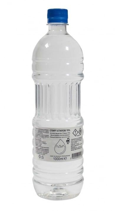 Спирт 70% Денатуриран Етилов Алкохол - 1 L