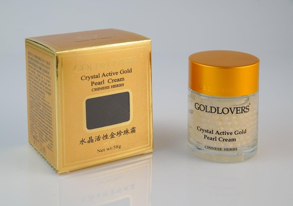 Крем за лице с перлен прах и активно злато