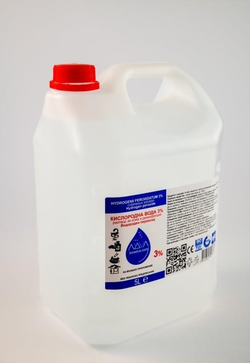Кислородна вода 3% - 5L