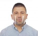Елегантна IT ADVA Face mask / AFM Elegant/ - Предпазна маска-шлем за лице, за защита от COVID-19, за многократна, ежедневна употреба.
